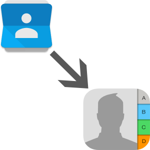 Перенос контактов с Anroid на iOS