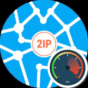 Как узнать скорость интернет с помощью 2ip