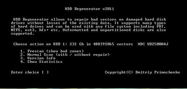 HDD Regenerator - как пользоваться