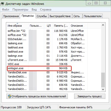 Winlogon.exe - что это