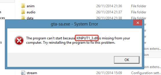 Xinput1_3.dll скачать