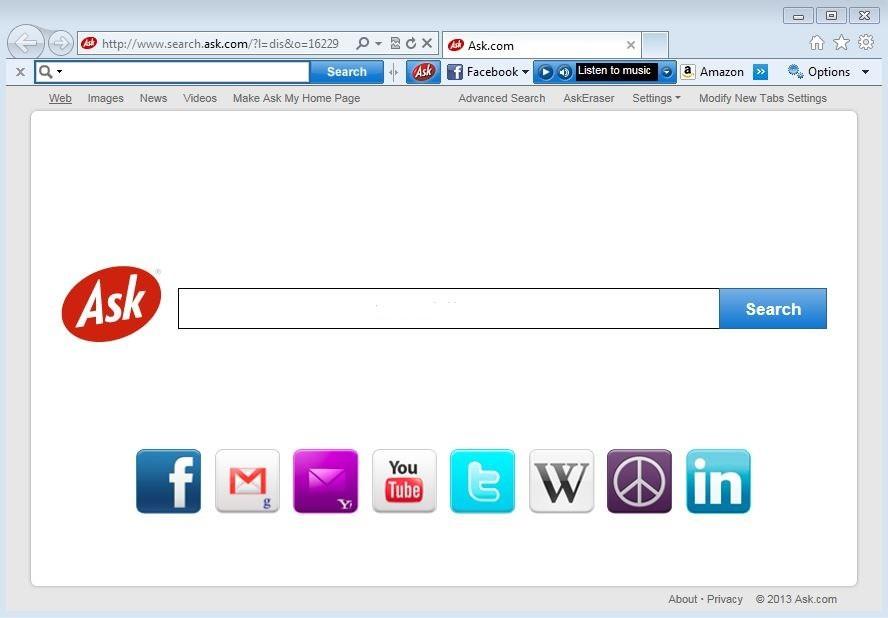 Ask toolbar - что это за программа