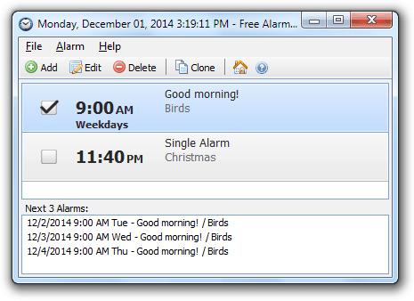 Скачать будильник на ноутбук