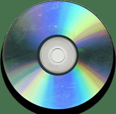 Оптический диск с царапинами