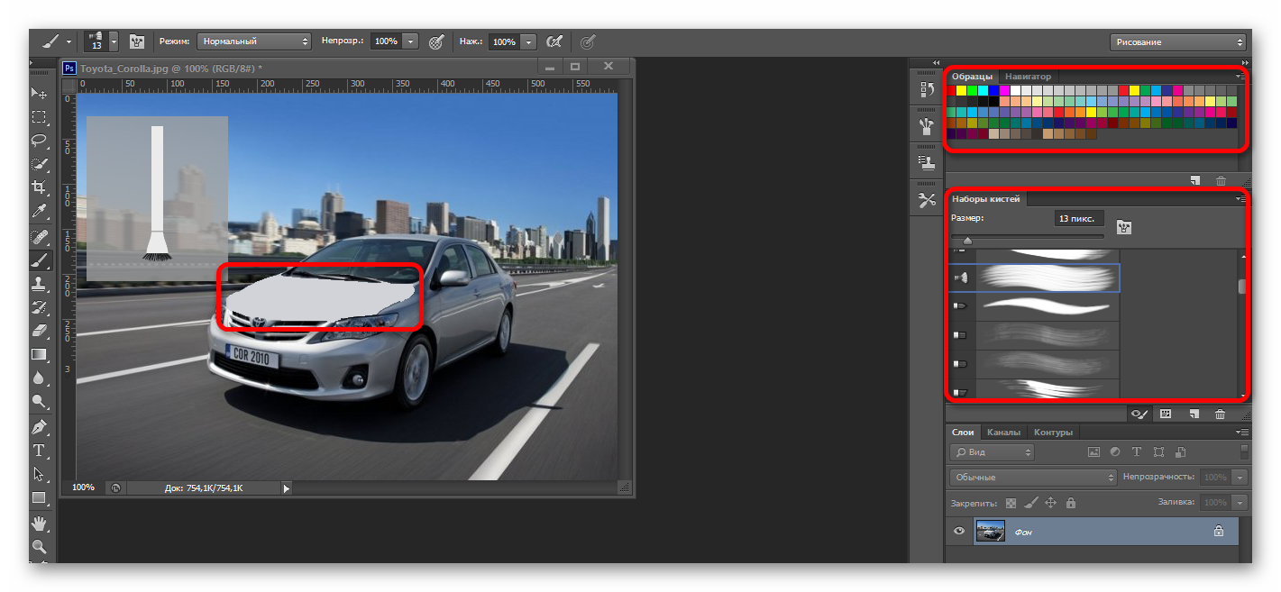 Рисование Adobe Photoshop CS 6