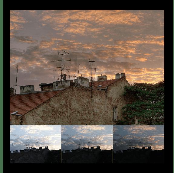 Фрагмент фото в HDR-режиме полученный в результате наложения трёх изображений