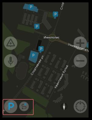 Найти паркинг Яндекс Навигатор