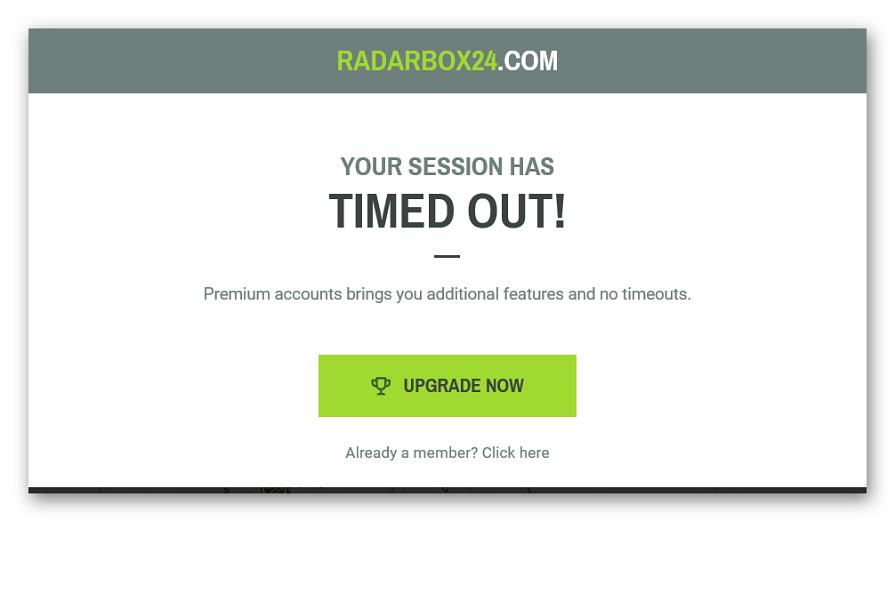 Требование открыть премиум на сайте Radarbox24