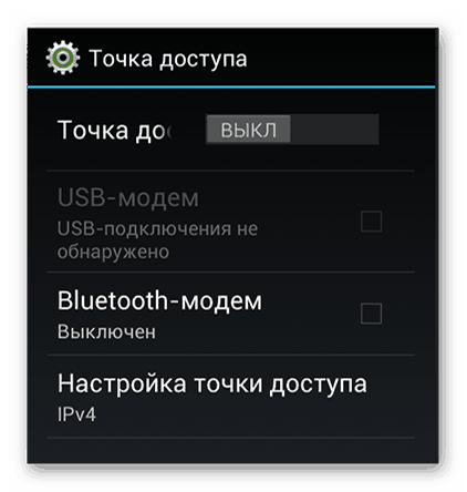 Настройки точки доступа после перехода из Mobileuncle Tools
