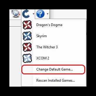 Изменение нужной игры в Nexus Mod Manager пункт 2