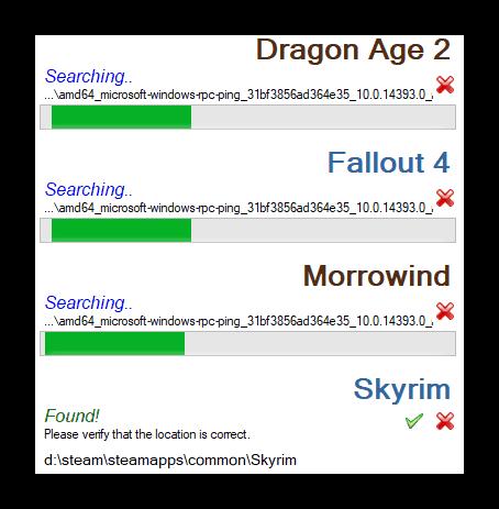 Сканирование в Nexus Mod Manager