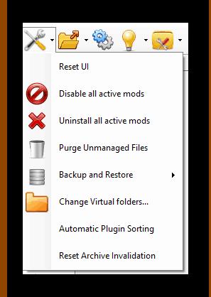 Вкладка Tools в Nexus Mod Manager
