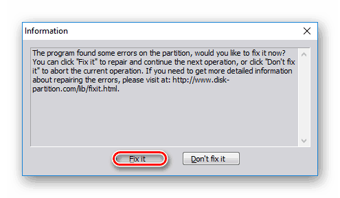 Устранение ошибок в AOMEI-Partition-Assistant-Standard