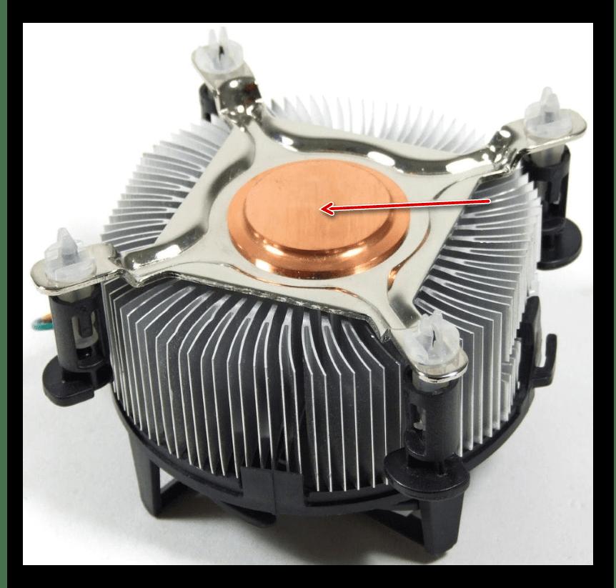 Медная сердцевина у охлаждения для процессора