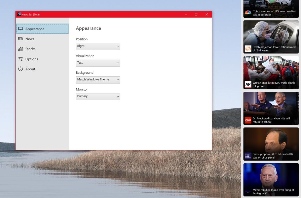 Новостная панель Microsoft